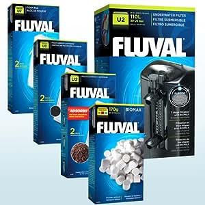 FLUVAL U2 AQUARIUM INTERNAL FILTER WITH ADDITIONAL MEDIA