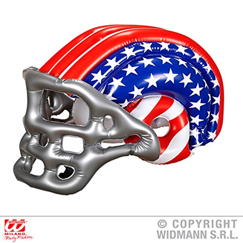 Sofias Closet Aufblasbar American-Football-helm Superbowl NFL Verkleidung Kostümparty Junggesellenabschied - Rot / weiß / Blau (USA), One size
