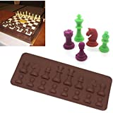 International Chess Chocolate Cookie Mould Sugar Soap Fondant Molds Cake Stencils Ice Cube Tray Kitchen Bar Tool Taart Decor