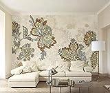 YUANLINGWEI Wandbild Tapete Benutzerdefinierte Jede Größe Rosa Nelken Muster Tapeten
