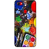 For Oppo F7 Colored Paint ( Colored Paint, Color, Brush, Paint, Painting ) Printed Designer Back Case Cover By King Case