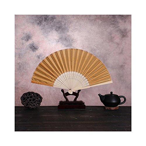 JUNHONGZHANG Bunte Falten Ventilator Im Chinesischen Stil Hand Ventilator Bambus Seide Folding Fan Party Hochzeit Dekor, Orange