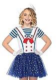 Leg Avenue Disfraz de marinero infantil, talla S (C4820401059)