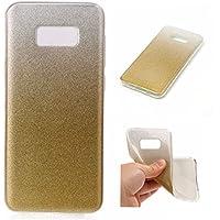 Cozy Hut Samsung Galaxy S8 Plus, Samsung Galaxy S8 Plus Plating TPU Bumper Case Soft Silikon Gel Schutzhülle,Flash Bling Weich TPU Schutzhülle Handy Tasche Shinning Glitzer Kristall Flash-Pulver S