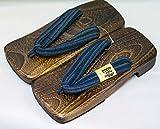 [Japan Made] Mens Geta Paulownia Wood Sandals Traditional Footwear (26cm, Basic Desgin)