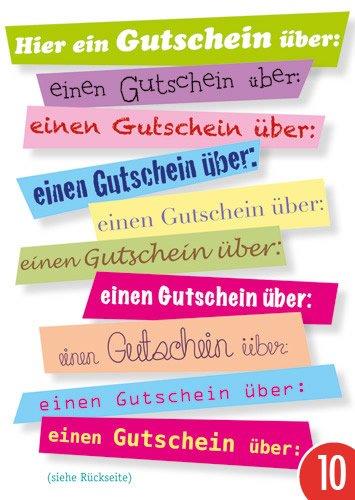 10er-Pack: Postkarte A6 +++ LUSTIG von modern times +++ EINEN GUTSCHEIN ÜBER +++ ARTCONCEPT WEIDE, Ingrid