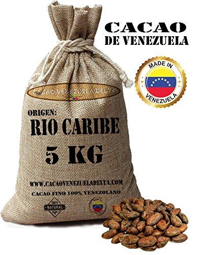 Cacao Venezuela Delta - Cacao fine 100{ce03620533df17d9d64e891178b4d7b8b5487cfc698d4ccf57a67f4a1abe5b5c} venezuelano - Cacao Di Fascia Alta e Qualità Premium - Criollo Beans - Origine Rio Caribe - cioccolato - Sacchi di juta 5kg