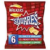 Walkers Squares Variety Snacks, 22 g, Pack of 6