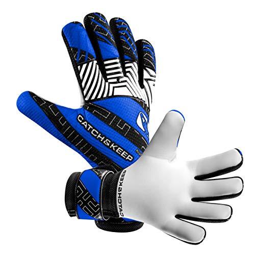 CATCH & KEEP Kralle Junior PRO - Premium Tormannhandschuhe für Kinder - Torwarthandschuhe mit extra starkem Grip - mit hochwertigem Fingerschutz
