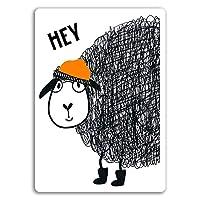 2 x 10cm Funny Sheep Vinyl Stickers - Lamb Farm Cute Kids Sticker Laptop #17468