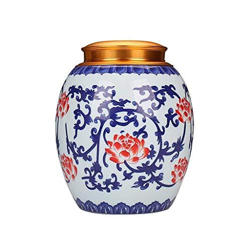Boîtes à thé AUGAUST en céramique conçue avec Une Couverture en Alliage Bonne Fonction d'étanchéité Anti-Usure Anti-Usure et Multi-Taille (Couleur : B, Taille : M)