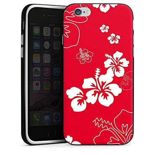 Apple iPhone 5 Housse Étui Silicone Coque Protection Été Fleurs Fleurs Housse en silicone noir / blanc