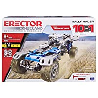 Meccano Rally Racer 10-in-1 Building Kit, 159 Parts, STEM Engineering Education Toy for Ages 10 and Up