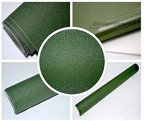 Preisvergleich Produktbild 4,5€/m² Auto Folie - NATO GRÜN / OLIVE MATT - 50 x 152 cm BLASENFREI selbstklebend flexibel Car Wrapping Klebe Folie