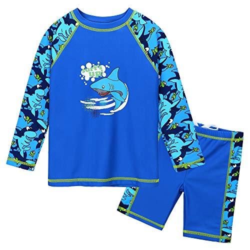 HUAANIUE Traje de Baño para Bebé Comodidad Dos Piezas Manga Larga + Pantalones Cortos Combinación...