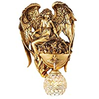ZWJ- Wall Lamp Wall Sconces Angel Wall Lamp Living Room Bedroom Bedside Corridor Creative TV Backdrop