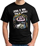 35mm - Camiseta Hombre - La Bruja Averia Viva El Mal Viva El Capital -Tv, NEGRA, XL