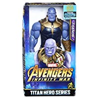 Personaggio di Thanos da 30 cm circa ispirato al film Connettilo al Titan Hero Power FX Pack per attivare suoni e frasi Include un ingresso per la connessione con il Titan Hero Power FX Pack Ispirato al film Avengers: Infinity War