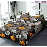 Blexos Saawaan Glace Cotton Microfiber Comforter with Matching Bedsheet -4 Pieces Combo Set of Double Luxurious Reversible Comforter Elegant Bedsheets with 2 Pillow Covers