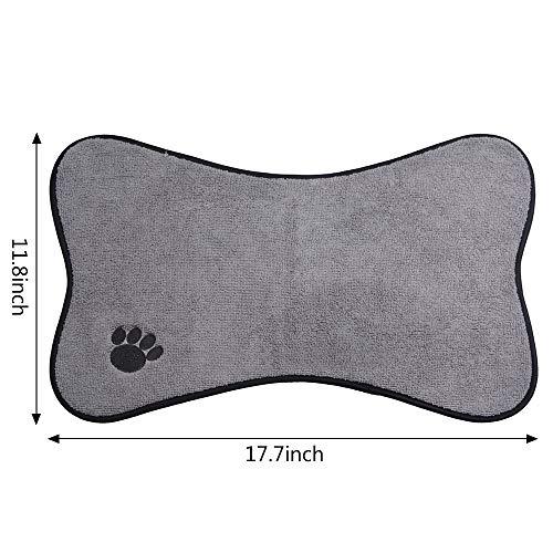 Sinland Qualitäts-Mikrofaser Pet Bowl Mat Dish Trocknung Matte mit Antirutsch -Unterlage 30cmX45cm Grau
