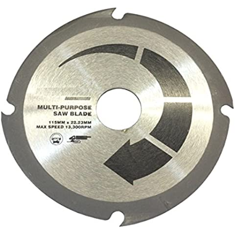 115mm Smerigliatrice taglio del legno lama disco - multiuso taglio di wil plastica cartongesso MDF fibra di vetro