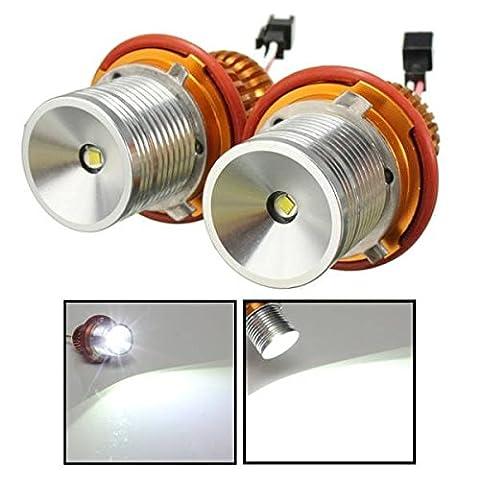 mark8shop 12V Cree LED Scheinwerfer Angel Eyes Halo Ringe Lampe Weiß Licht für BMW