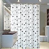 NYDZDM Tenda da doccia con Tappetino da Bagno Tenda da Bagno Impermeabile per Tende da Bagno in PEVA (Size : 150cmx200cm)