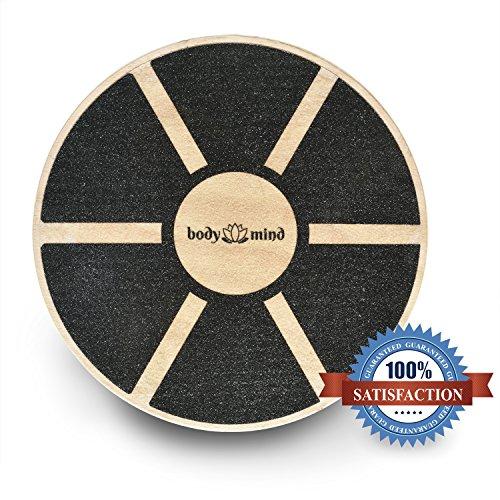 Balance-Board Deluxe Wackelbrett aus Holz für Physio-Therapie-Kreisel-Training; Trainiert Gleichgewicht & Koordination