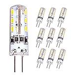 10er NOVESTE G4 LED Birne, 1.5W (10W Halogen Äquivalent), 100 LM, 3000K Warmweiß, DC 12V