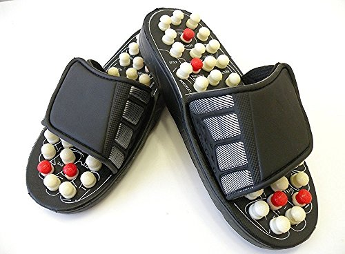KANTHI Spring Acupressure and Magnetic Therapy Accu Paduka Chappal Slippers for Full Body Blood Circulation Massager