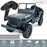 Beatie RC Camion Militaire Truck - JJRC Q65 1:10 4WD RC Jeep Off-Road Truck 2.4GHz Simulation Véhicule Modèle...