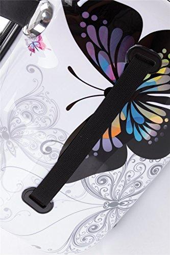 Maleta de viaje 2060,rígida, en 12 motivos, XL, L, M Butterfly S(Beautycase)
