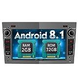 PUMPKIN Android 8.1 Autoradio Moniceiver für Opel Astra Corsa Zafira mit Navi Unterstützt Bluetooth DAB+ USB Android Auto WLAN 4G MicroSD 2 Din 7 Zoll Bildschrim