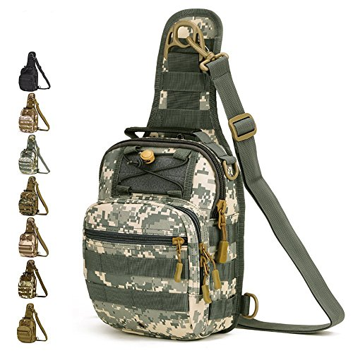 c179dde0c9 Outdoor militare petto tattico borsa a tracolla Sling petto zaino per  campeggio escursioni, ACU Digital