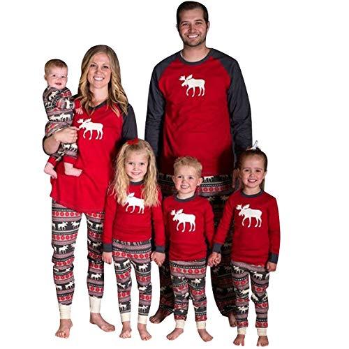 ec9dbe946d Pijamas Familiares Navideñas Pijama Navidad Familia Reno Conjuntos  Navideños Bebe Mujer Niños Niña Hombre Adultos Trajes