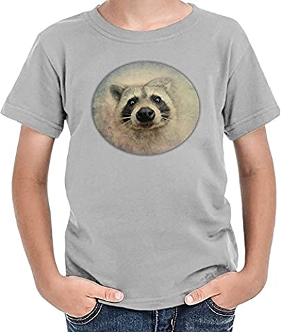 Cute Raccoon Face T-shirt garçon 12+ yrs