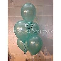 30 Aqua Marine Single Shade Range Pearlised Latex Balloons (Helium Quality)