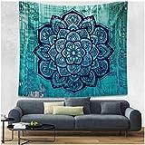 enipate elegante Bohemian tapiz de color Impreso decorativo Mandala tapiz indio Boho pared alfombra, algodón, 13, 130cmx150cm