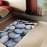 AdornHome-Sticker Adesivi per pavimenti in pietra pazzesca adesivipersonalizzati per la decorazione domestica, 58X87CM