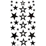 King Horse waterproof non-toxic temporary tattoos new fixed hollow five-pointed star
