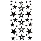 King Horse wasserdicht ungiftig temporäre Tattoos neuen festen hohlen fünfzackigen Stern