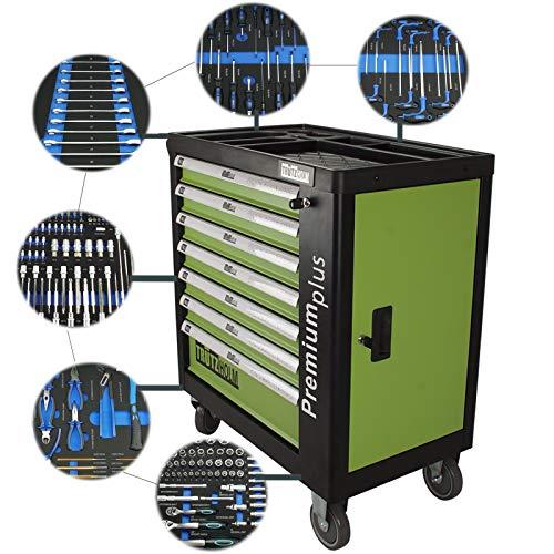 TRUTZHOLM® Werkstattwagen Premium Profi bestückt Montagewagen gefüllt Werkzeugwagen Assistent (Premium XXL bestückt) -