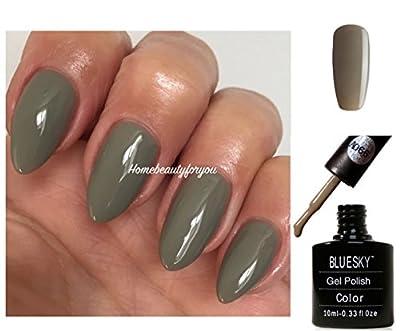 Bluesky A66 Greystone Khaki Green Rubble Nail Gel Polish UV LED Soak Off 10ml PLUS 2 Luvlinail Shine Wipes