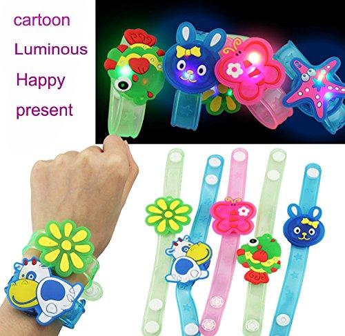 Yagii Leuchtend Aufhellen Blitz Spielzeuge Licht Blitz Wrist Band Comic-Figuren LED Leuchten Armband im Dunkeln Leuchten Spielzeug