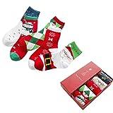 Paolian 5 paires de Noël dessins animés de Santa claud coton chaussettes d'hiver (B)
