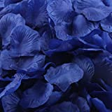 1000pcs Pétalos de Rosa de Seda, VENMO Flor Artificial Boda Favor Despedida de Soltera Pasillo Florero Decoración Confetti (Azul)