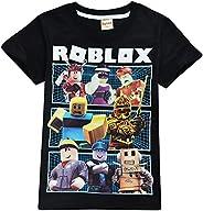 Camiseta Roblox de algodón transpirable para juegos en familia, juegos en equipo para niños y niñas, parte sup