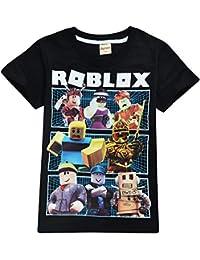 Camiseta Roblox de algodón transpirable para juegos en familia, juegos en equipo para niños y niñas, parte superior de pijama
