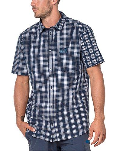 Jack Wolfskin Herren HOT Springs Hemd, Night Blue Checks, M