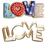HENGSONG Love Buchstaben Ausstechformen Ausstecher Keksausstecher Edelstahl Backen Zubehör Fondant Plätzchen Ausstecherform Cookie Cutter